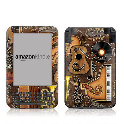 Kindle Keyboard Skin - Music Elements