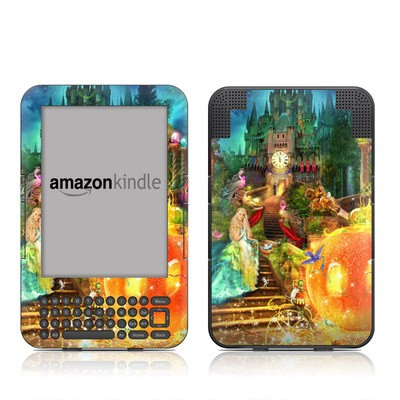 Kindle Keyboard Skin - Midnight Fairytale