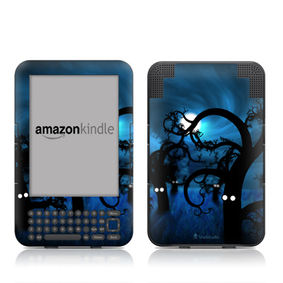 Kindle Keyboard Skin - Midnight Forest