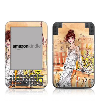 Kindle Keyboard Skin - Mimosa Girl