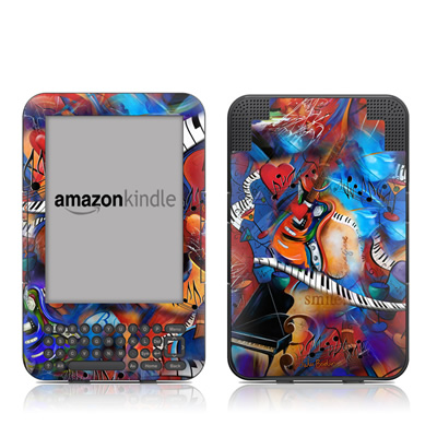 Kindle Keyboard Skin - Music Madness