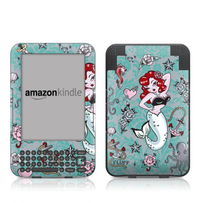 Kindle Keyboard Skin - Molly Mermaid