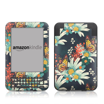 Kindle Keyboard Skin - Monarch Grove