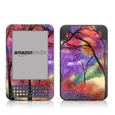 Kindle Keyboard Skin - Moon Meadow