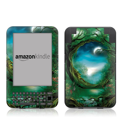 Kindle Keyboard Skin - Moon Tree
