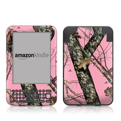 Kindle Keyboard Skin - Break-Up Pink