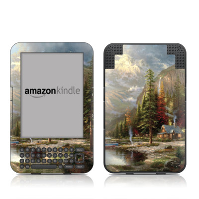Kindle Keyboard Skin - Mountain Majesty