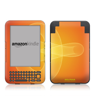 Kindle Keyboard Skin - Moire Trefoil