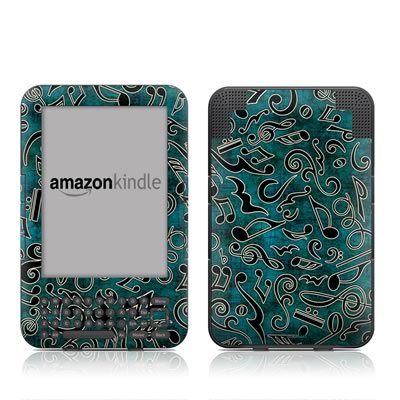 Kindle Keyboard Skin - Music Notes