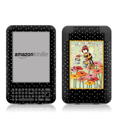 Kindle Keyboard Skin - Be My Honey