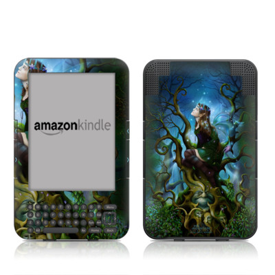 Kindle Keyboard Skin - Nightshade Fairy