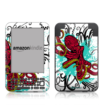 Kindle Keyboard Skin - Octopus