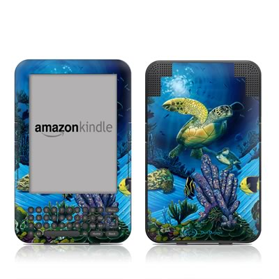 Kindle Keyboard Skin - Ocean Fest