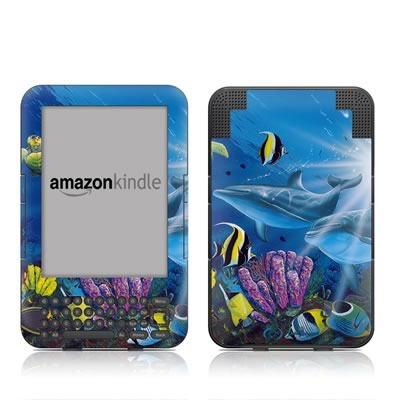 Kindle Keyboard Skin - Ocean Friends