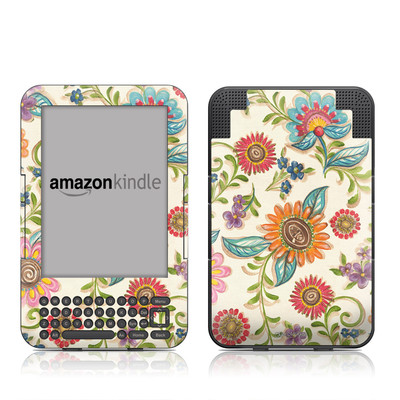 Kindle Keyboard Skin - Olivia's Garden