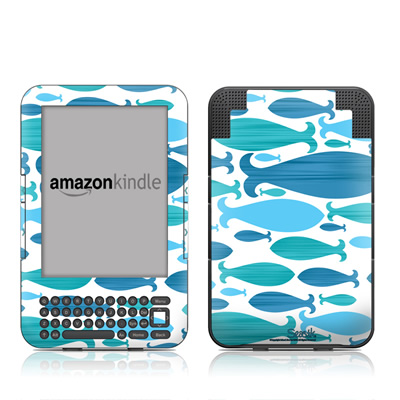 Kindle Keyboard Skin - Ocean Rain
