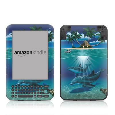 Kindle Keyboard Skin - Ocean Serenity