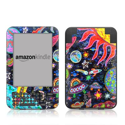 Kindle Keyboard Skin - Out to Space