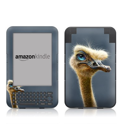 Kindle Keyboard Skin - Ostrich Totem