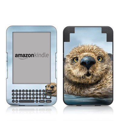 Kindle Keyboard Skin - Otter Totem