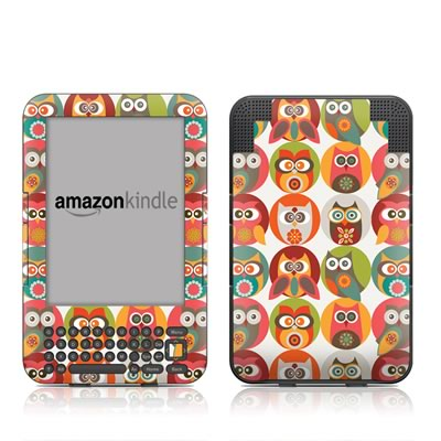 Kindle Keyboard Skin - Owls Family