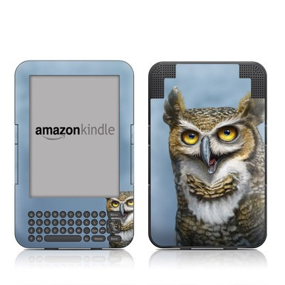 Kindle Keyboard Skin - Owl Totem
