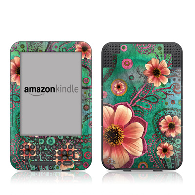 Kindle Keyboard Skin - Paisley Paradise