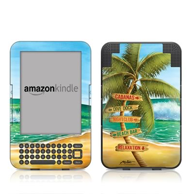 Kindle Keyboard Skin - Palm Signs