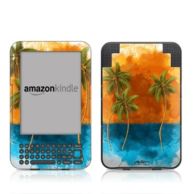 Kindle Keyboard Skin - Palm Trio