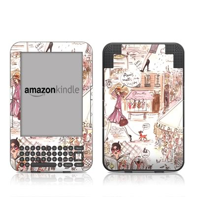 Kindle Keyboard Skin - Paris Makes Me Happy