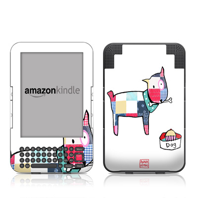 Kindle Keyboard Skin - Patch Dog