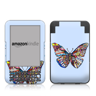 Kindle Keyboard Skin - Pieced Butterfly