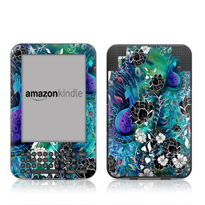 Kindle Keyboard Skin - Peacock Garden