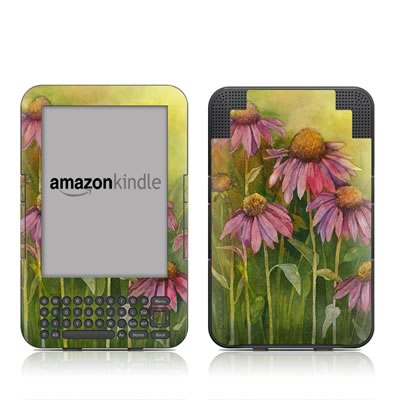 Kindle Keyboard Skin - Prairie Coneflower
