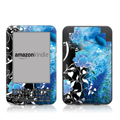 Kindle Keyboard Skin - Peacock Sky