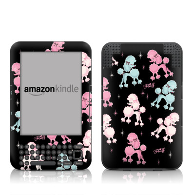 Kindle Keyboard Skin - Poodlerama