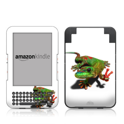 Kindle Keyboard Skin - Peace Gecko