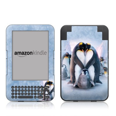 Kindle Keyboard Skin - Penguin Heart