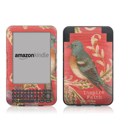 Kindle Keyboard Skin - Fresh Picked Fuschia