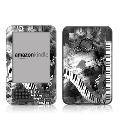 Kindle Keyboard Skin - Piano Pizazz