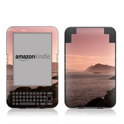 Kindle Keyboard Skin - Pink Sea