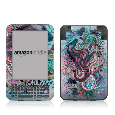 Kindle Keyboard Skin - Poetry in Motion