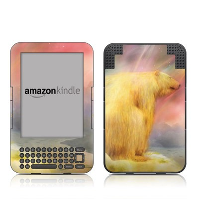 Kindle Keyboard Skin - Polar Bear