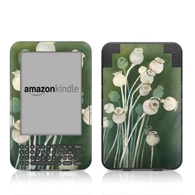 Kindle Keyboard Skin - Poppy Pods