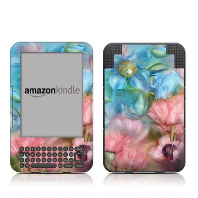 Kindle Keyboard Skin - Poppy Garden