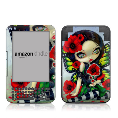Kindle Keyboard Skin - Poppy Magic