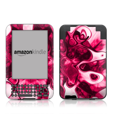 Kindle Keyboard Skin - Pink Splatter