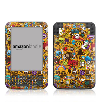 Kindle Keyboard Skin - Psychedelic