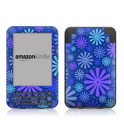 Kindle Keyboard Skin - Indigo Punch