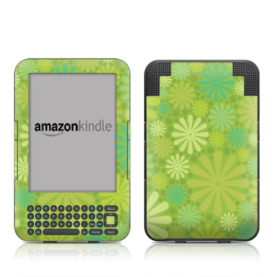 Kindle Keyboard Skin - Lime Punch